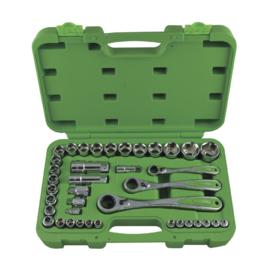 JBM Tools | Set van doorsteek doppen, 39-delig