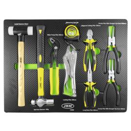 JBM Tools | Lade met een set van hamers en tangen