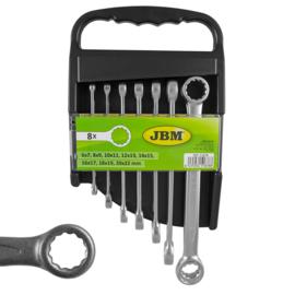JBM Tools | SET VAN 12-KANTE VLAKKE RING-SLEUTELS