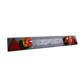 JBM Tools | PANEL VOOR AANHANGWAGENS - 2 SIGNAAL INDICATOREN en 2 DRIEHOEKIGE REFLECTOREN КABEL 5 m