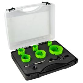 JBM Tools | Gatenzaagset met adapters | 8-delig | Bi-metaal