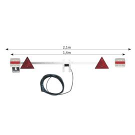 JBM Tools   Telescopische panel voor aanhangwagens 1,4-2.1m /kabel 6 m
