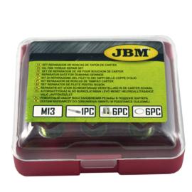 JBM Tools Reparatiekit voor schroefdraad herstelling in de carter schaal (M-13)