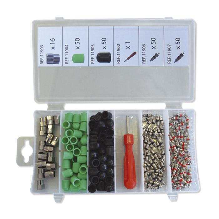 JBM Tools set van kappen en kernen voor banden