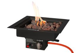 Easyfires Inbouwbrander vierkant 40x40 cm Black (Limited Edition)