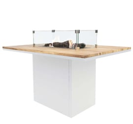 Cosiloft 120 Relax Dining Table White/Teak