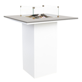 Cosiloft 100 Bar Table white frame / grey top