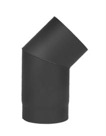 Kachelpijp bocht 45 graden D 150mm Zwart