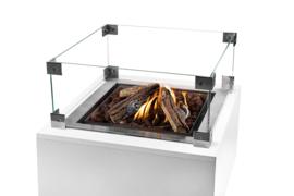 Glazenombouw Cocoon Table inbouwbrander vierkant groot