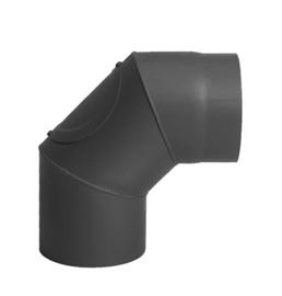 Kachelpijp bocht 90 graden D 150mm Zwart