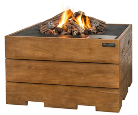 Happy Cocooning vuurtafel Teak vierkant set Exclusive
