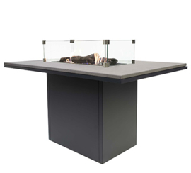 Cosiloft 120 Relax Dining Table Black/Grey top