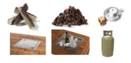 Happy Cocooning Inbouwbrander /wijnkoeler combi set vierkant