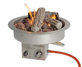 Easyfires Inbouwbrander rond RVS ∅ 40 cm