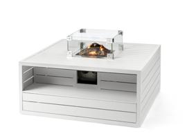 Happy Cocoon Table Vierkant Aluminium Wit