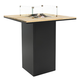 Cosiloft 100 Bar Table black frame / teak top