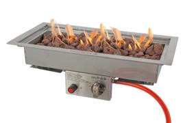 Easyfires Inbouwbrander 50x25 cm rechthoek RVS