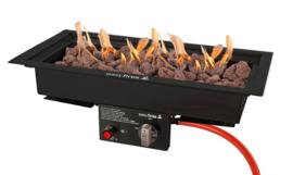 Easyfires Inbouwbrander 50x25 cm rechthoek Black (Limited Edition)