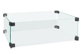 Easyfires Glasombouw rechthoek 54x29 cm zwart