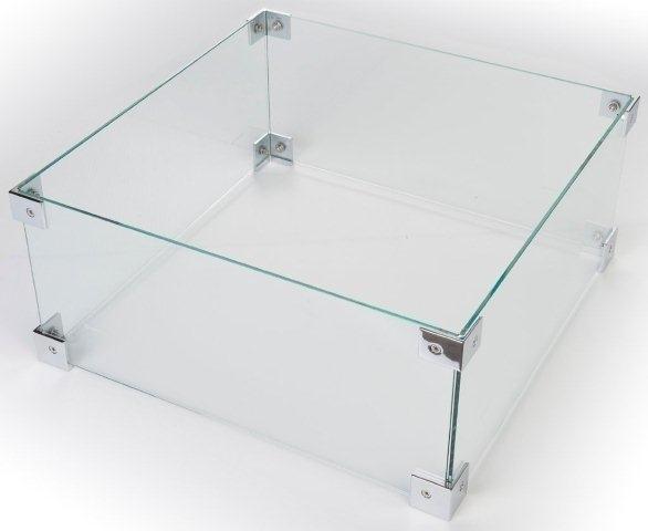 Glazen ombouw Cocoon Table inbouwbrander vierkant groot 49x49 cm