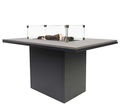 Cosiloft 120 Relax Dining Table Black/Grey top