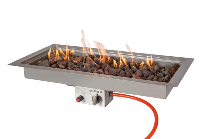 Easyfires Inbouwbrander rechthoek lang