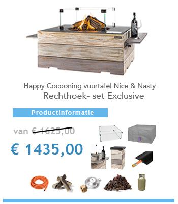 aanbieding vuurtafel Happy Cocooning