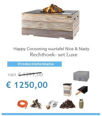 complete vuurtafel Happy Cocoon aanbieding