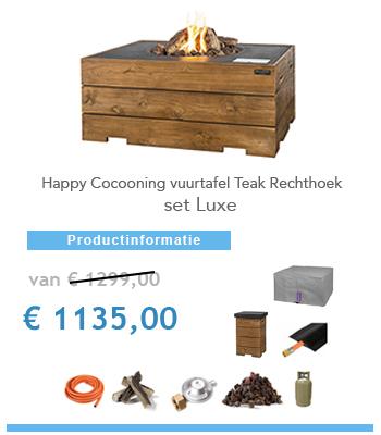 vuurtafel happy cocoohn set aanbieding