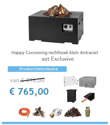 Aanbieding complete set vuurtafel Happy Cocoon