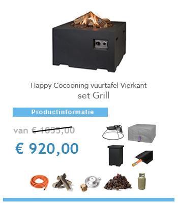vuurtafel happy cocoon met grill