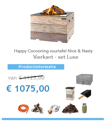 Nice & Nasty vuurtafel happy cocoon