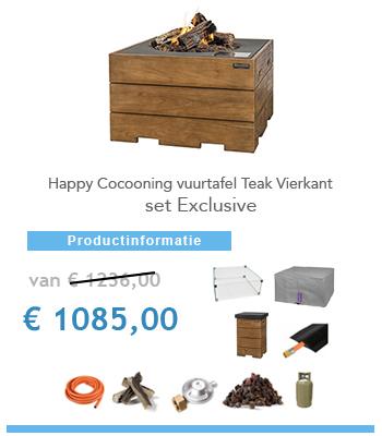 complete set vuurtafel happy cocoon teak