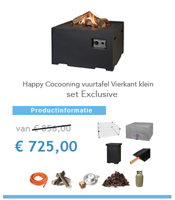 complete set happy cocoon vuurtafel
