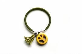 Peace Bracelet - Green/Yellow