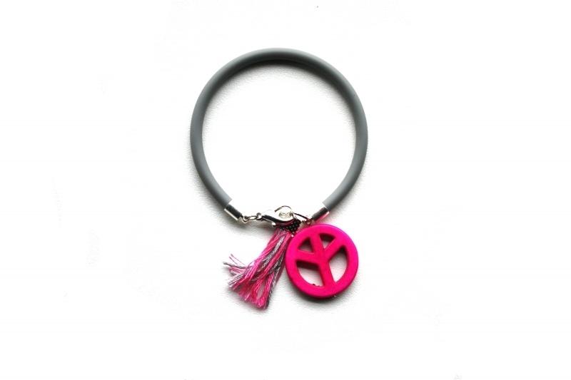 Peace Bracelet - Grey/Pink