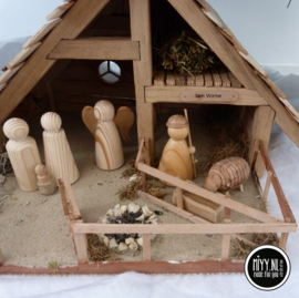 Kerststal luxe incl complete set pegg dolls