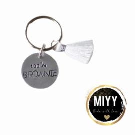 "Happy key coin ""100% brownie"""