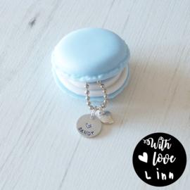 """XO Macaron """"Blue"""""""