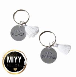 "Set happy key coin ""100% brownie&super blonde"""