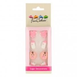 FunCakes Suikerdecoratie Baby Meisje Set/8