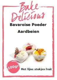 Bake Delicious Bavaroise Aardbei 100gr met stukjes fruit.