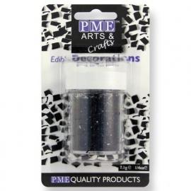 PME Glitter Flakes - Black 7g.