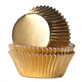 House of Marie Baking Cups Folie Goud (24 st.).