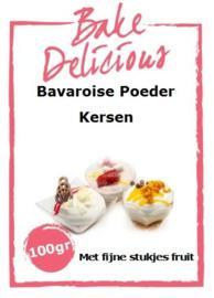 Bake Delicious Bavaroise Kersen 100gr met stukjes fruit.