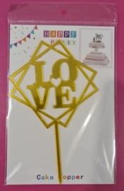 Happy Party  Cake Topper Love