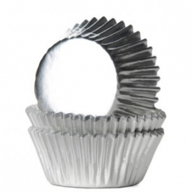 House of Marie Mini Baking Cups Folie Zilver (36 st)