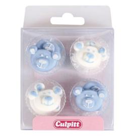Culpitt Suikerdecoratie Baby Beren Blauw pk/12