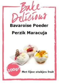 Bake Delicious Bavaroise Perzik Maracuja 100gr met stukjes fruit.