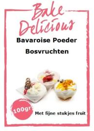 Bake Delicious Bavaroise Bosvruchten 100gr met stukjes fruit.